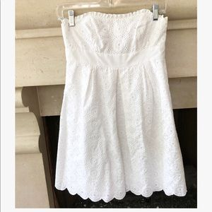 Lilly Pulitzer Betsey White Eyelet Lace Dress